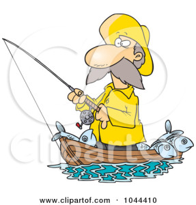 1044410-Cartoon-Fisherman-Standing-In-His-Boat-Poster-Art-Print